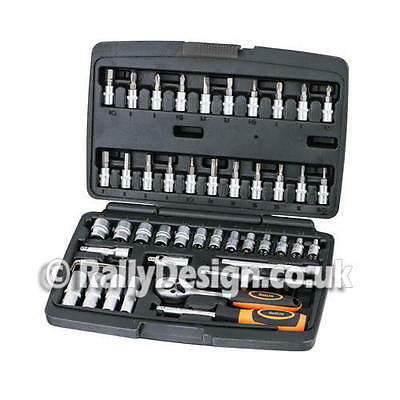"48 Piece Socket Set Professional Quality 1/4"" Drive Rally Design - SWE100"