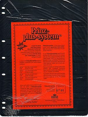 5  Prinz System 6  strip single sided Pages with strip  stock sheet