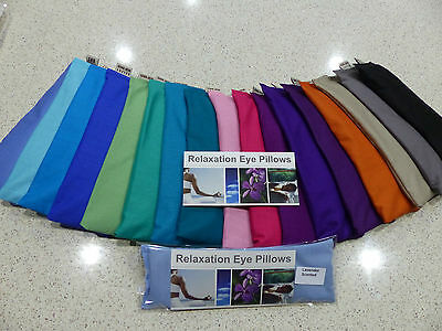 Eye Pillow Cotton Flaxseed Linseed Relaxation Yoga Meditation Lavender Unscented