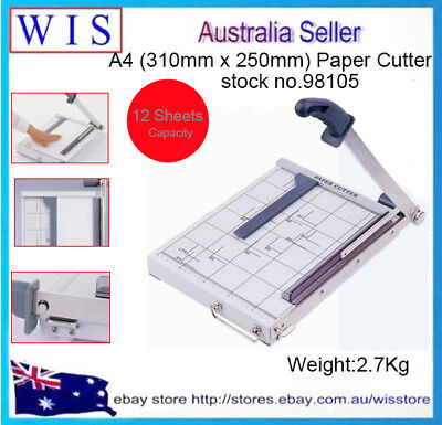 A4-B7 Strong Metal Base 15-Sheet Capacity Guillotine Cutter,Paper & Photo Cutter