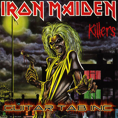 Iron Maiden Guitar Tab KILLERS Lessons on Disc