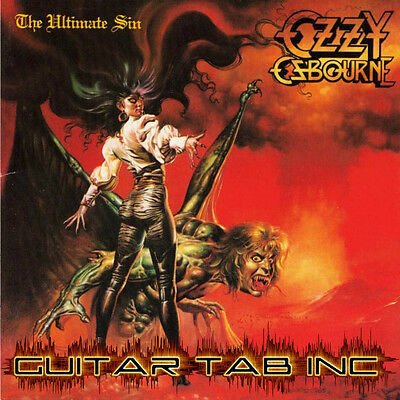Ozzy Osbourne Guitar & Bass Tab THE ULTIMATE SIN Lessons on Disc