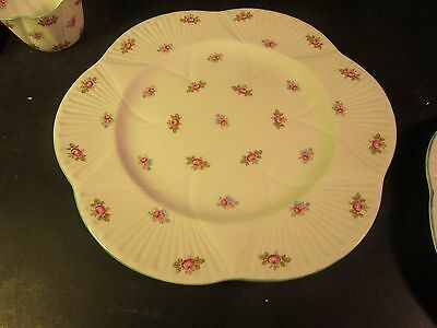 "Shelley Rosebud 10-1/2"" Dinner Plate"