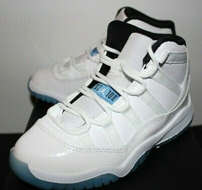 868e092417ca36 Air Jordan Retro 11 XI Legend Blue White Sneakers Boys PS Size 2 2Y 2.5 3