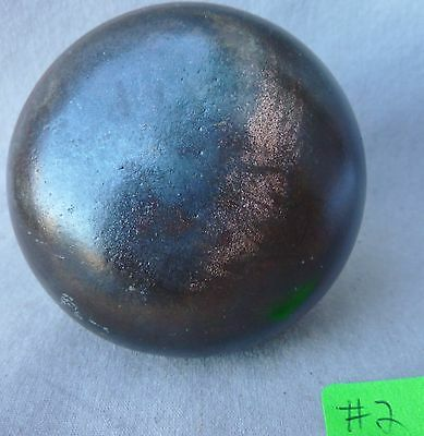 "Door Knob (single) Old Patina Flashed Copper over iron 2 1/4""d #2"