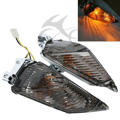 Smoke Rear Turn Signal Indicator Light For Suzuki GSXR600 GSXR750 2011-2014 NEW