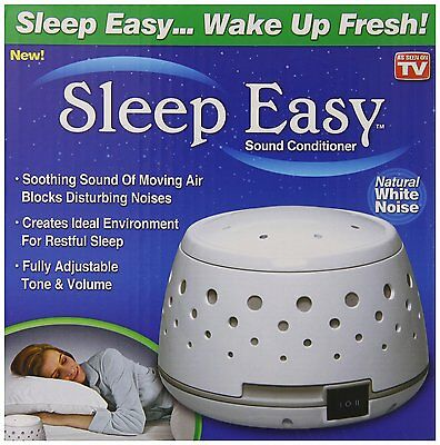 Sleep Easy Sound Conditioner White Noise Therapy Machine Bedroom Rest BestDealer