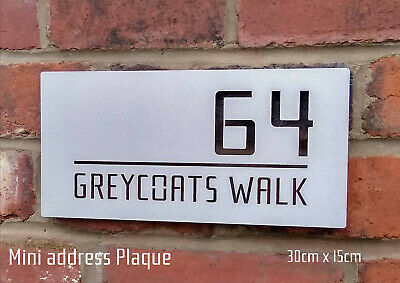 Mini Stainless Steel Address Plaque Sign -  FREE DELIVERY