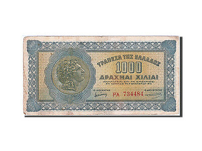 [#257497] Greece, 1000 Drachmai, 1941, KM #117a, VF(20-25), PA 734484