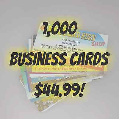 1,000 Full Color Double Sided Business Cards