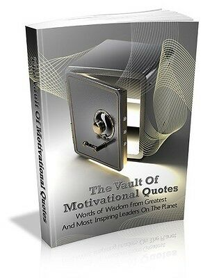 The Vault Of Motivational Quotes  + 10 Free eBooks With Resell rights  PDF
