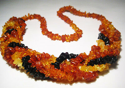 5-Line Real  BALTIC  AMBER Necklace