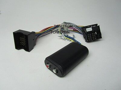 VW Quadlock Remote High Low Adapter 2 Chinch Originalradio Ausgang Verstärker
