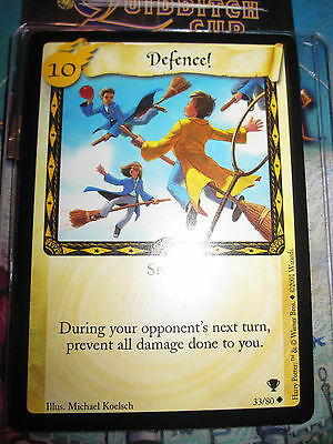 Harry Potter Trading Card Tcg Quidditch Cup Defence ! 33/80 Unco En Mint