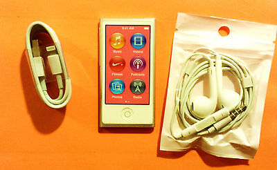 BRAND NEW Apple iPod Nano 7th Gen Silver 16GB + Fast FREE Shipping! mp3 lot NICE