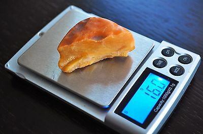 16,0 grams 100 % Genuine Natural Baltic Butterscotch Amber Stone Raw