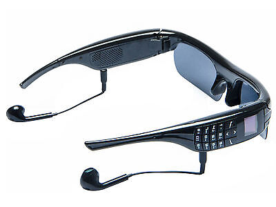 OLED HD Bluetooth Stereo Smart Glasses Alarm Outdoor Video Camera FM MP3