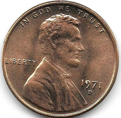 United States Unc 1971-D Lincoln Memorial Cent~Free Shipping