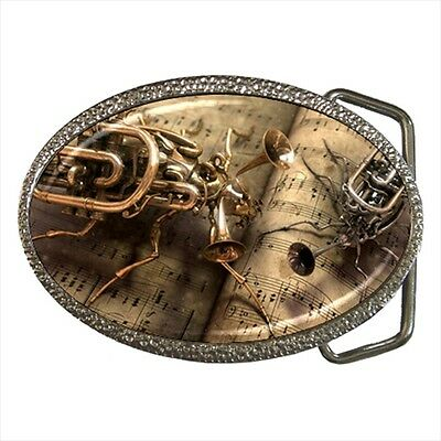 Steampunk Fantasy Metal Bug Belt Buckle Silver Metal
