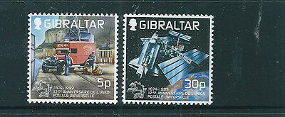 Gibraltar 1999 Universal Postal Union set of 2 unmounted mint