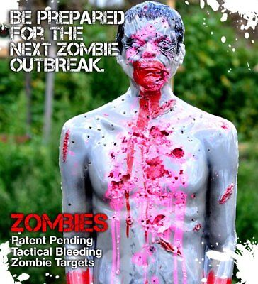 LifeSize Bleeding Zombie Tactical Target Silhouette
