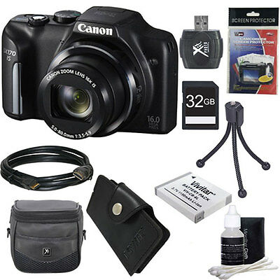 Canon PowerShot SX170 IS 16MP Digital Camera Ultimate Kit