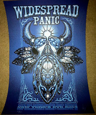 Widespread Panic Charlotte New Years Eve Poster By Jeff Wood & Show Ticket