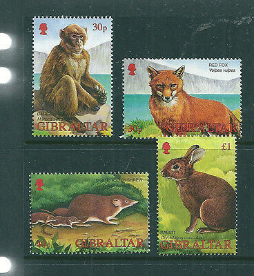 Gibraltar 2002 Wildlife set of 4 unmounted mint