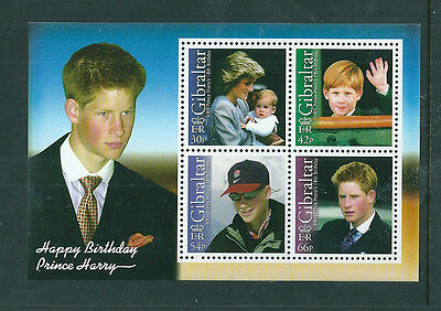 Gibraltar 2002 Prince Harry 18th Birthday mini sheet unmounted mint