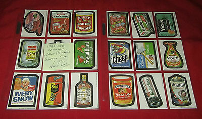 1989 CANADIAN O PEE CHEE WACKY PACKAGES COMPLETE SET 1-62   @@  RARE  @@  NM/MT