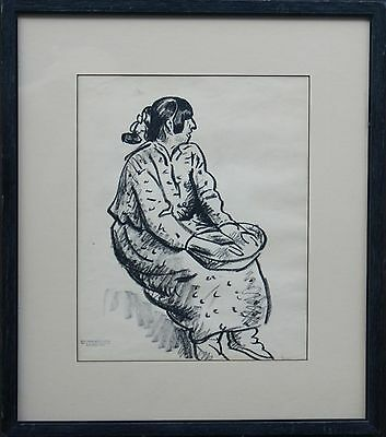 Maurice Sterne Listed Taos New Mexico Pueblo Two Original Works On Paper