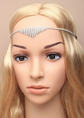 Boho Festival Crystal Hair Chains Head Piece Hair Jewellery Head Chains 4960