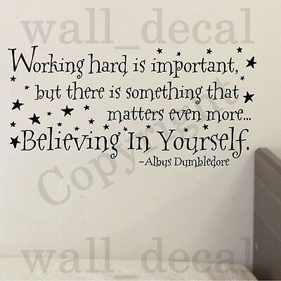 Harry Potter Working Hard Wall Decal Vinyl Art Sticker Quote Decor Lettering G08