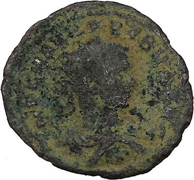 Probus  receiving wreath from Orbis 276AD Antioch Ancient  Roman Coin i45967