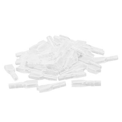 50 x PVC Connector Covers/Insulators for Brass 6.3mm Female Spade Terminals