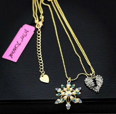 Betsey Johnson new Christmas snowflake necklace BJ12N!