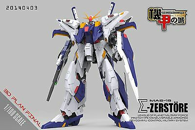 MECHANICORE 1/100  MAS-15 mas15 Gundam + Bonus Decals  Plastic Full Model Kit