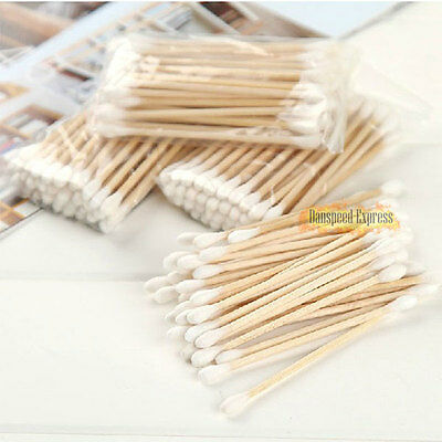 1200pc Makeup Cosmetic Double Tip Cotton Buds Cleaning Wooden Swabs Q-tips New