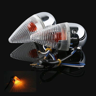 Clear Bullet Rear Turn Signal For YAMAHA XV1900 XV 1900 2006-2013 2012 2011 2009