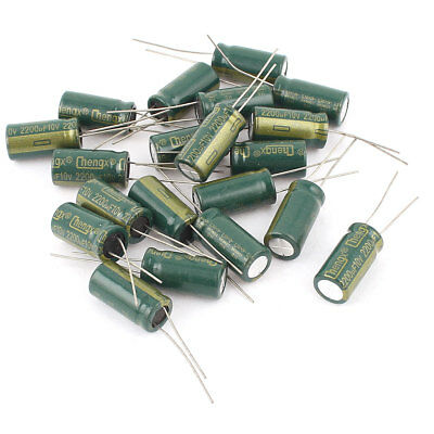 20 Pcs  10V 2200uF 105C Radial Motherboard Electrolytic Capacitor 10mm x 20mm