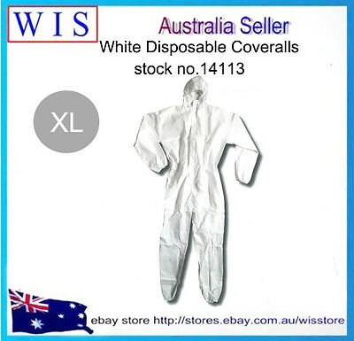 White Disposable Protective Clothing,Disposable Coveralls, Waterproof, XL-14113