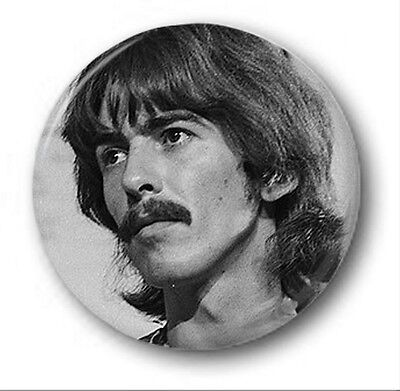 GEORGE HARRISON - 1 inch / 25mm Button Badge - Novelty Cute Beatles