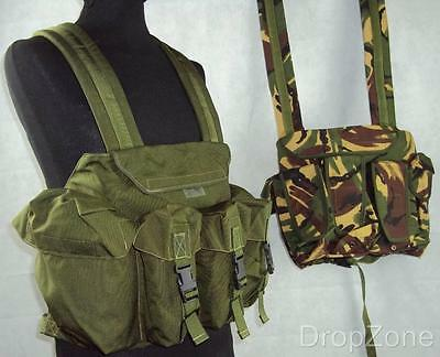 Woodland DPM / Olive Green Chest Webbing Rig PLCE Combat Vest Airsoft
