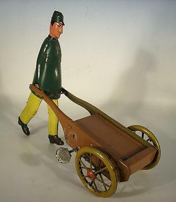 Uralt Blech Tin Toy Figürlich Dienstmann - Jim the walking Trollyman v. Stock??