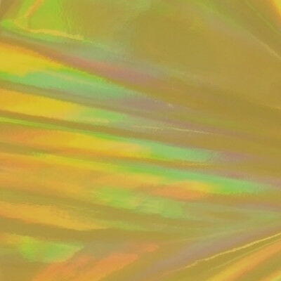 """24"""" X 4ft - Gold Holographic -*LVG InterCal*- Sign & Graphic Vinyl Film"""