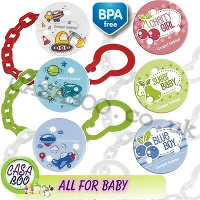 Baby dummy clip soother  holder chain Fruits &  Machines colection  ribbon  NEW