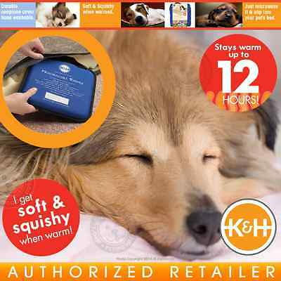 K&H Microwavable Pet Bed Warmer Indoor Heating Dog Beds Crates Cushions KH3111
