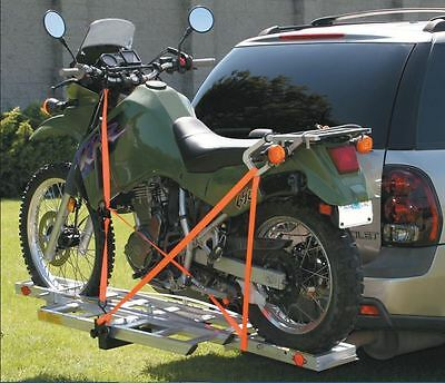 Motorcycle Hitch Hauler Motorcycle Carrier Rack Dirt Bike Scooter Carrier Hitch