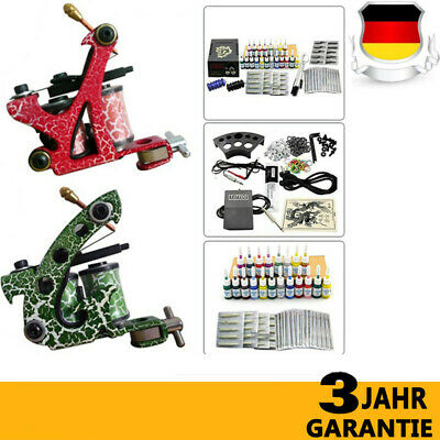 Tattoo Kit Tatuaggio Macchinetta Tatuaggi Machine Gun 20 Inchiostro Supply