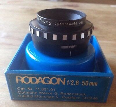 G. Rodenstock Rodagon 1:2.8 F=50Mm Lens Made In Germany Cat Nr 71.051.01